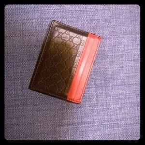 Gucci bicolor card holder